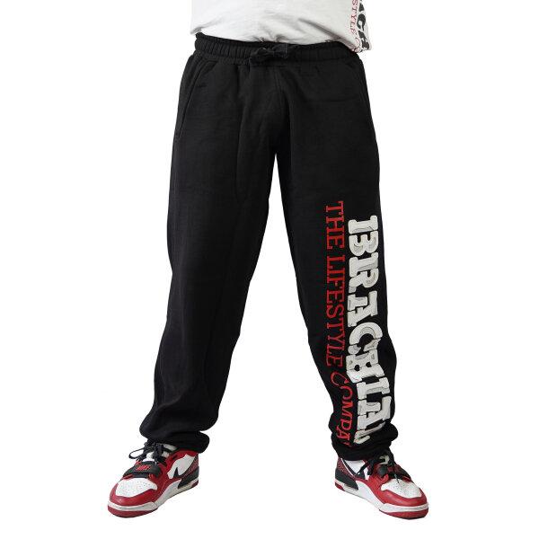 """Brachial Tracksuit Trousers """"Gym"""" black/white L"""
