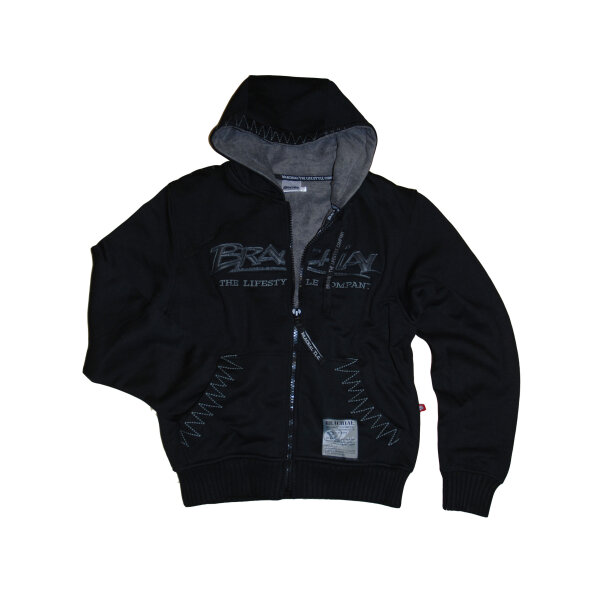 "Brachial Zip-Hoody ""Crew"" black/grey"