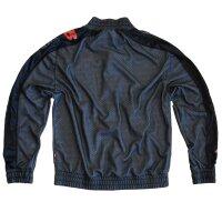 "Brachial Zip-Sweater ""Pain"" schwarz/grau"
