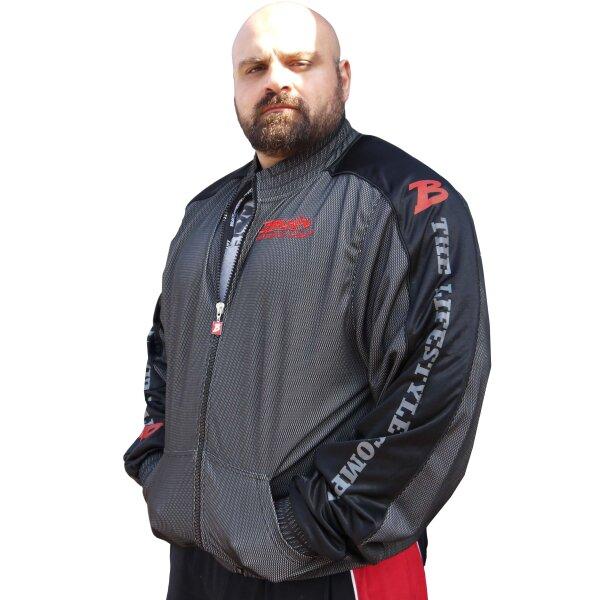 "Brachial Zip-Sweater ""Pain"" schwarz/grau 2XL"