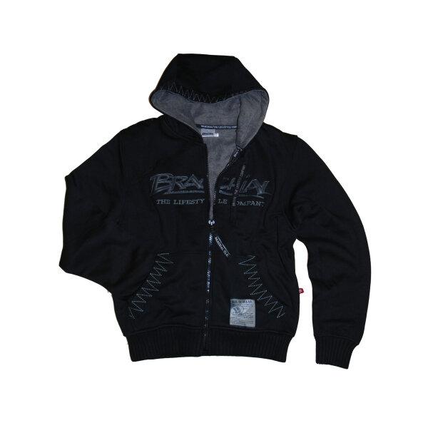 """Brachial Zip-Hoody """"Crew"""" black/grey S"""