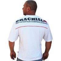 """Brachial T-Shirt """"Flag"""" weiss S"""