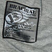 "Brachial Zip-Hoody ""Special"" graumeliert/schwarz 2XL"