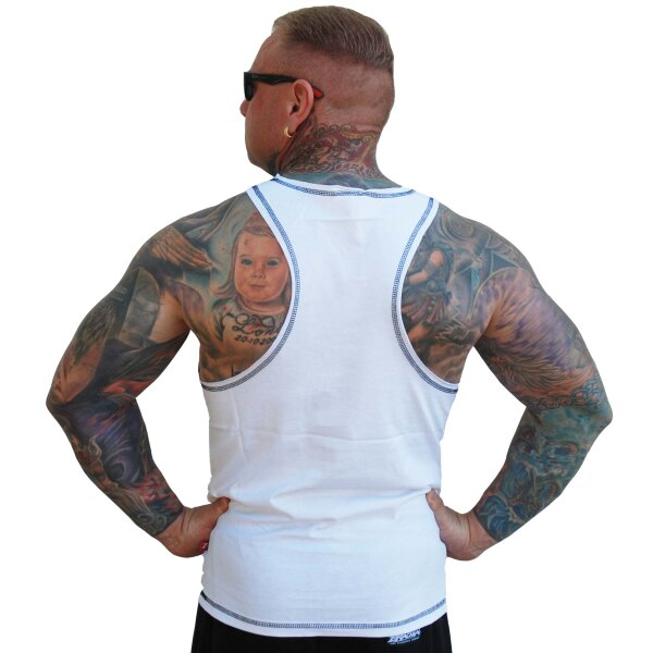 Brachial Tank-Top Cool white/black