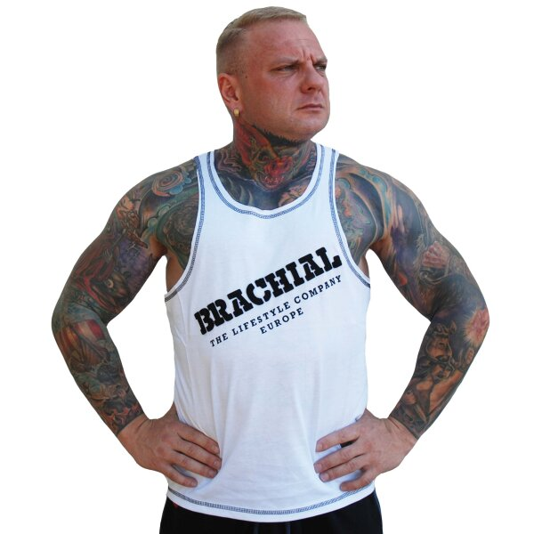 "Brachial Tank-Top ""Cool"" white/black 2XL"