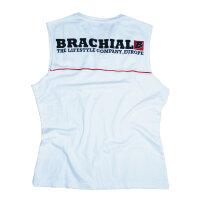 """Brachial Tank-Top """"Flag"""" weiss/rot XL"""