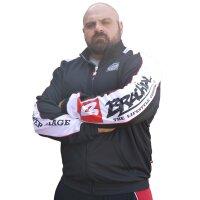 "Brachial Zip-Sweater ""Image"" black/white"