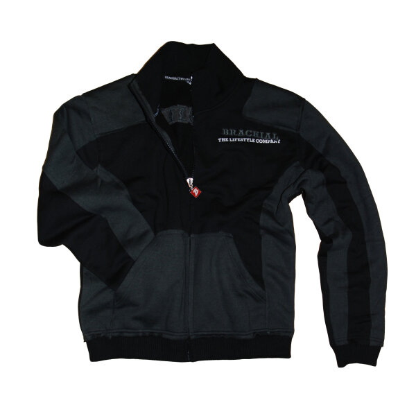 Brachial Zip-Sweater Fuel schwarz/anthrazit