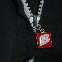 "Brachial Zip-Sweater ""Fuel"" white/anthracite"