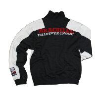 "Brachial Zip-Sweater ""Fuel""white/anthracite S"