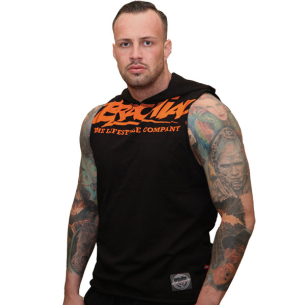Brachial Tank-Top Train schwarz/orange