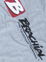 """Brachial T-Shirt """"Sign next"""" graumeliert/schwarz L"""