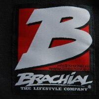 """Brachial Zip-Hoody """"Destroyer"""" schwarz/blaumeliert S"""