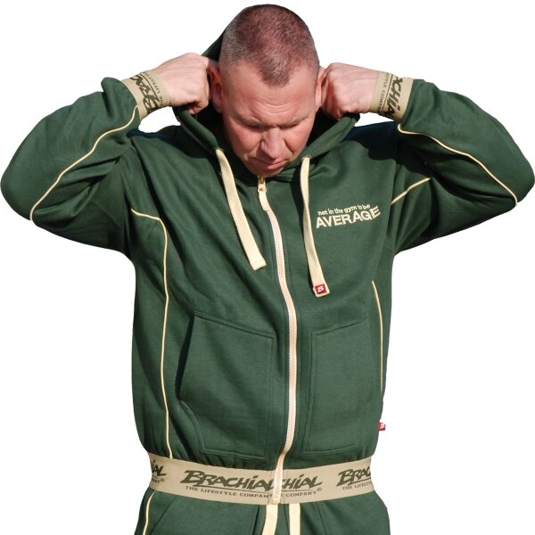 "Brachial Zip-Hoody ""Spacy"" military green M"