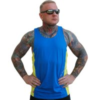 "Brachial Tank-Top ""Squat"" blue/neon green M"