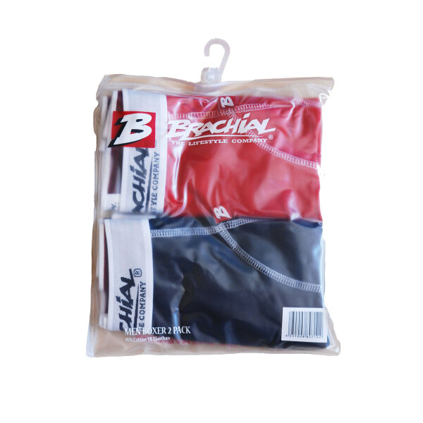 Brachial 2er Pack Boxer Shorts Under rot & schwarz
