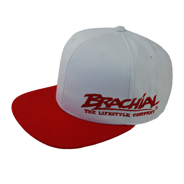 Brachial Snapback Cap Protect white/red