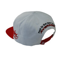 "Brachial Snapback Cap ""Protect"" white/red"