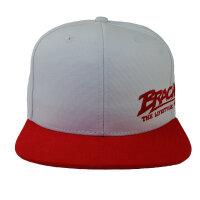 "Brachial Snapback Cap ""Protect"" weiss/rot"