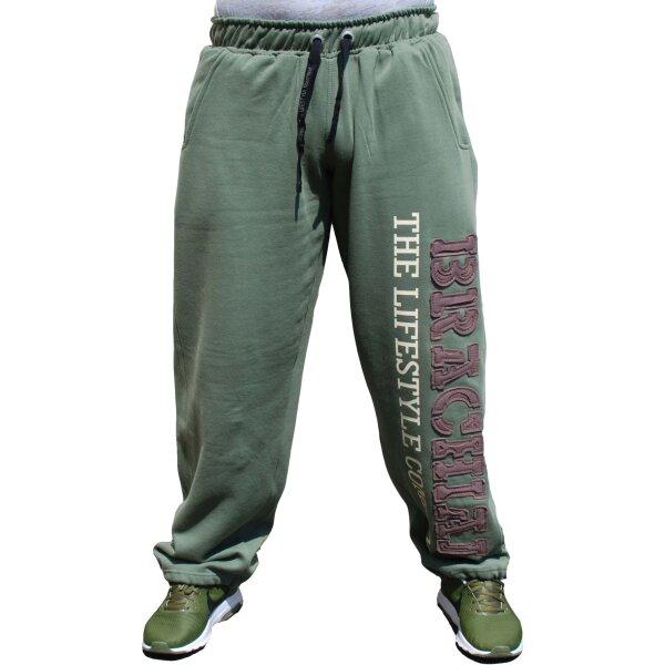 """Brachial Tracksuit Trousers """"Gym"""" khaki S"""
