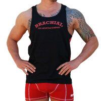 """Brachial Tank-Top """"Since"""" rot/schwarz XL"""