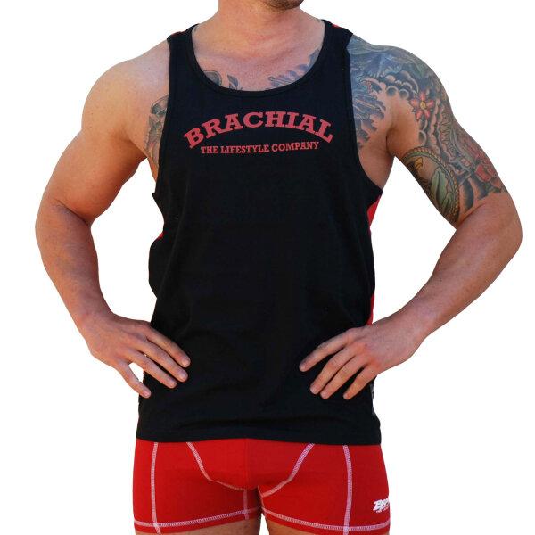 """Brachial Tank-Top """"Since"""" rot/schwarz 2XL"""