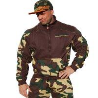 "Brachial Zip-Sweater ""Fuel"" camo"