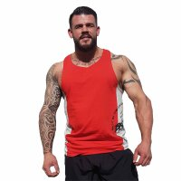"Brachial Tank-Top ""Squat"" red/grey"