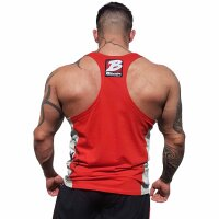 "Brachial Tank-Top ""Squat"" red/grey XL"