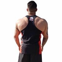 "Brachial Tank-Top ""Squat"" black/red"
