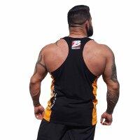 """Brachial Tank-Top """"Squat"""" black/orange"""