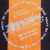 """Brachial Tank-Top """"Squat"""" black/orange M"""
