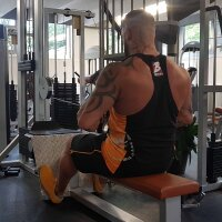 "Brachial Tank-Top ""Squat"" schwarz/orange XL"