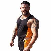 """Brachial Tank-Top """"Squat"""" black/orange 2XL"""
