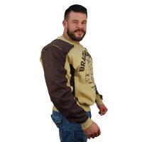"""Brachial Sweatshirt """"Viking"""" beige S"""