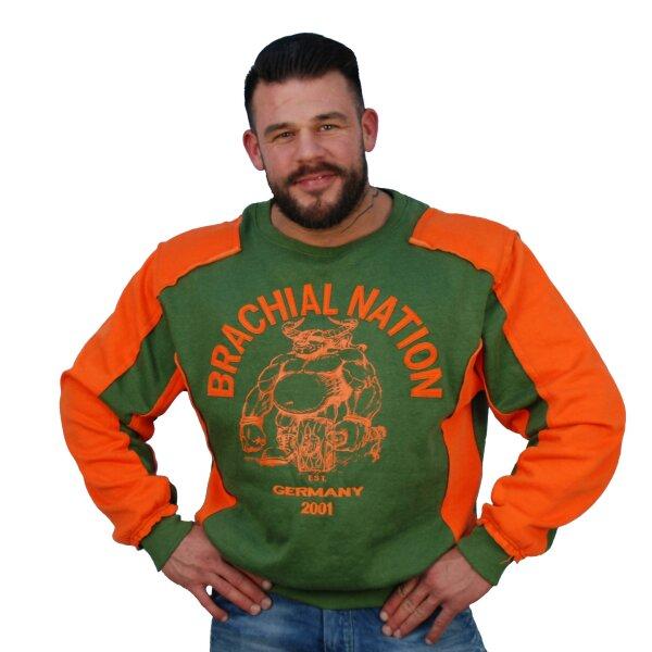 "Brachial Sweatshirt ""Viking"" grün"
