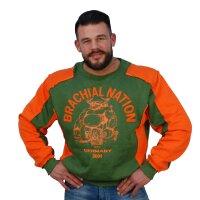 "Brachial Sweatshirt ""Viking"" grün 3XL"