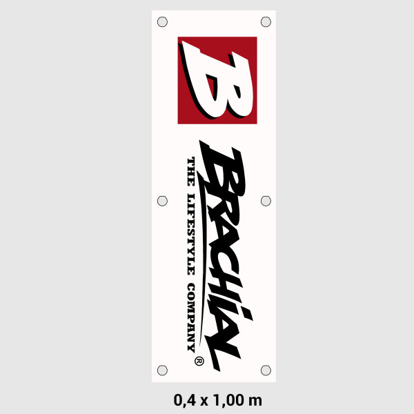 Brachial Banner Sign Logo white 40x100