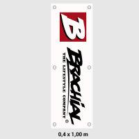 "Brachial Banner ""Sign Logo"" white 40x100"