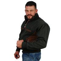"Brachial Zip-Sweater ""Original"" anthrazit S"