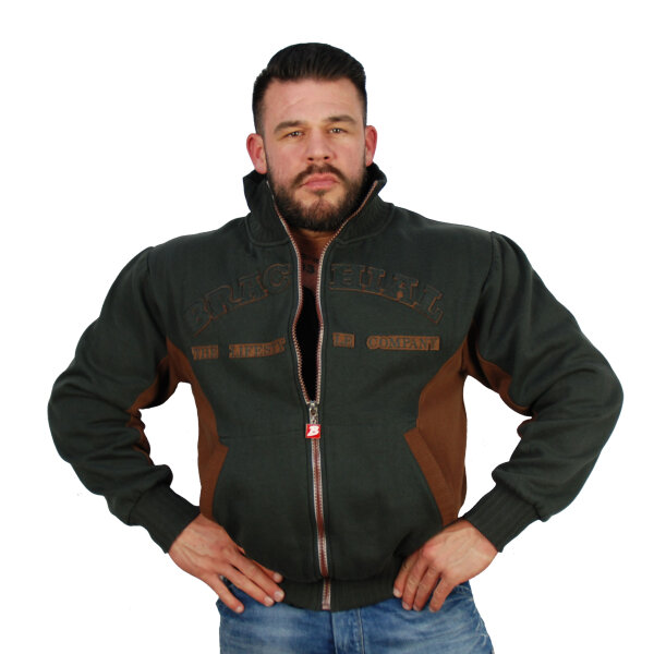 """Brachial Zip-Sweater """"Original"""" anthracite M"""