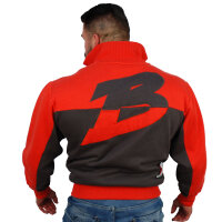 "Brachial Zip-Sweater ""Original"" red"