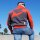 "Brachial Zip-Sweater ""Original"" rot S"