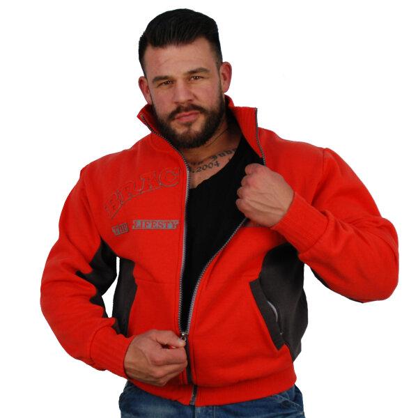 "Brachial Zip-Sweater ""Original"" red M"