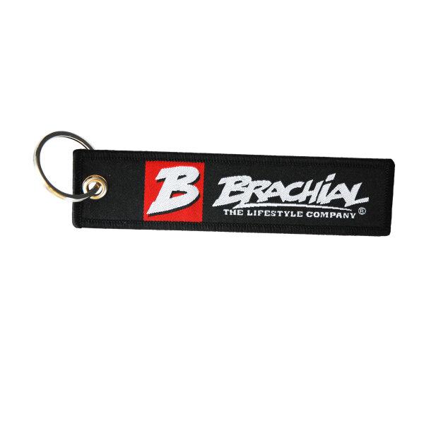 """Brachial Key Chain """"Logo"""" black"""
