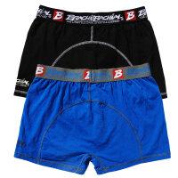 """Brachial 2er Pack Boxer Shorts """"Under"""" blue & black S"""