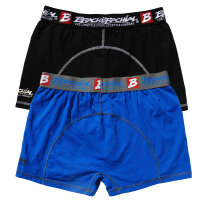 "Brachial 2er Pack Boxer Shorts ""Under"" blue & black M"