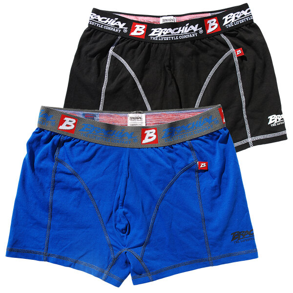 "Brachial 2er Pack Boxer Shorts ""Under"" blue & black 2XL"