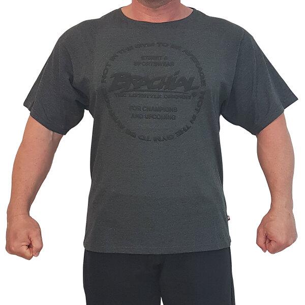 """Brachial T-Shirt """"Style"""" greymelounge L"""