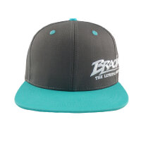 "Brachial Snapback Cap ""Protect"" dark grey/aqua"